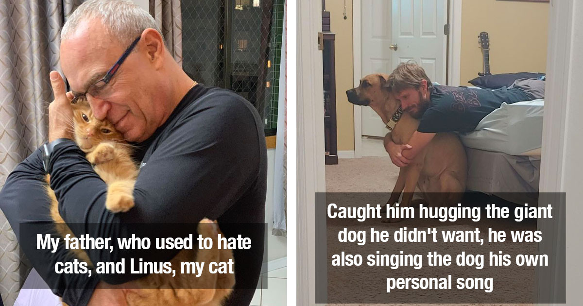 Dads Who Didn't Want Pets, But Now Can't Live Without Them