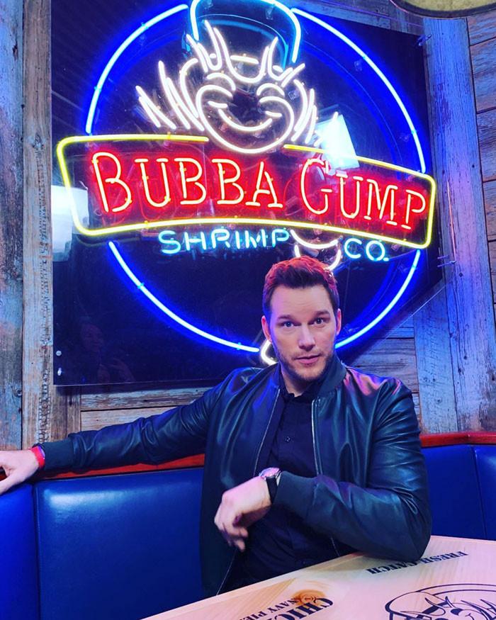 Bubba Gump Shrimp Co., the infamous restaurant that helped Chris Pratt land into his current position.