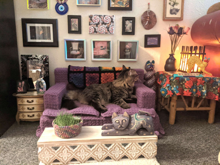 The tiny living room turned out to be a hit since its creation!