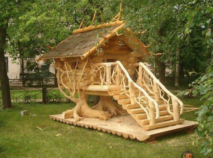 9. Tree house coop