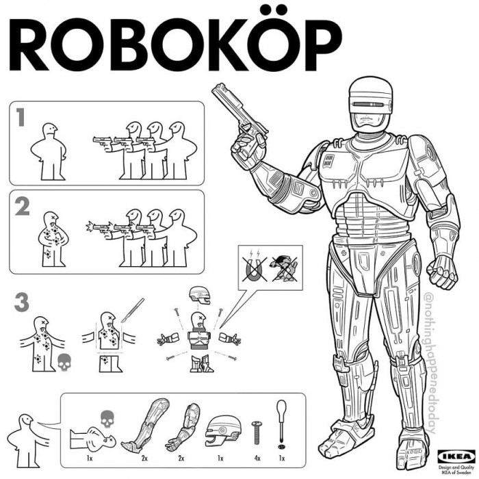 8. Robocop, alright during a pandemic this is a little more eerie.