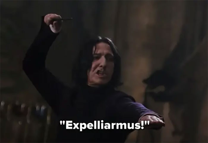Snape is the one who taught harry his signature spell!