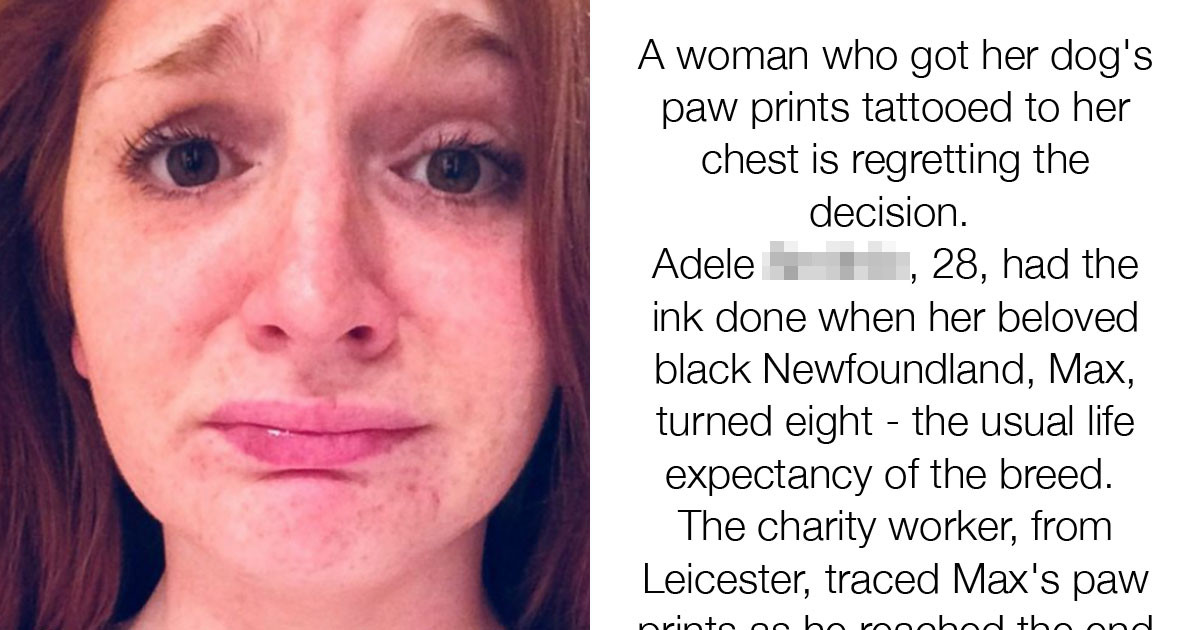 Woman Regrets Paw-Print Tattoo Because It's Impacting Her Love Life