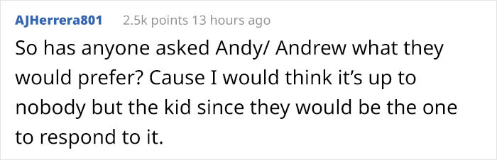 Exactly. Ask ANDY!