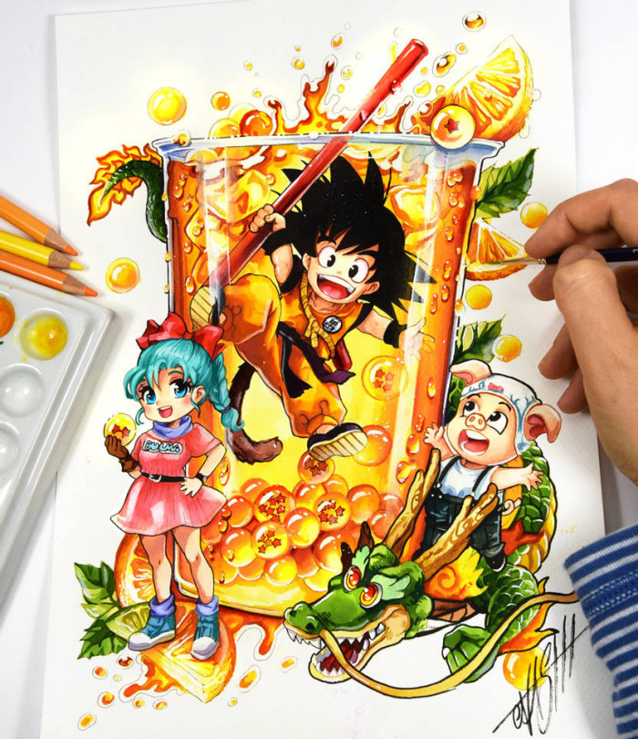 4. Dragon Ball Cocktail with Son Goku and His Friends
