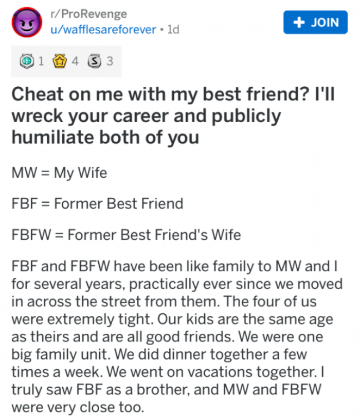 Affair my with my had friend wife an My wife