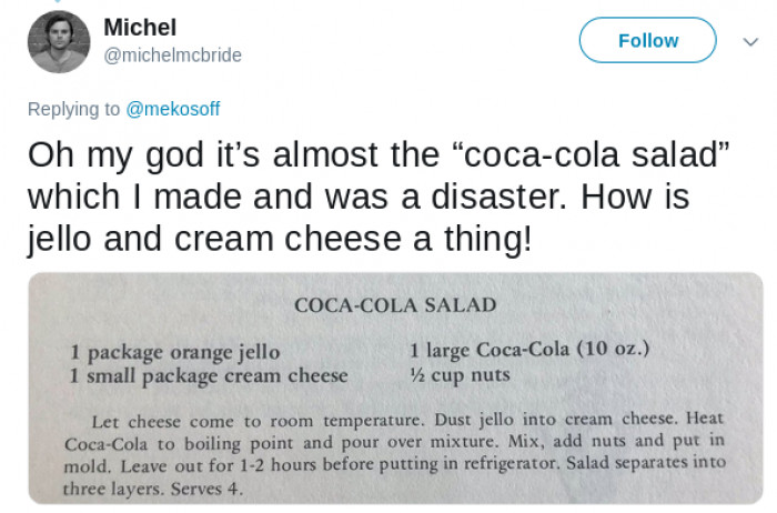 Coca Cola and Salad are two words that aren't supposed to go together.