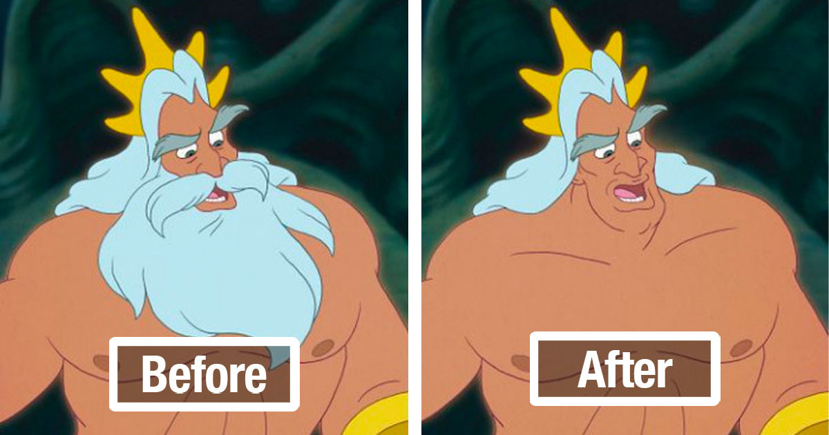 Illustrators Remove Iconic Facial Hair From Disney Characters And It Might Make You Uncomfortable