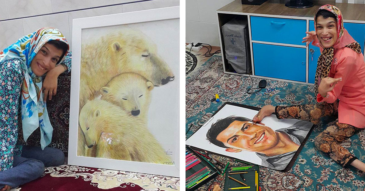 Despite Her Disability, This Artist Creates Amazing Illustrations With Her Foot
