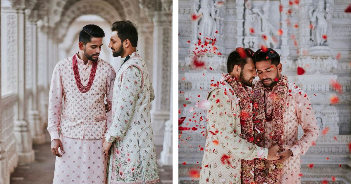 These Breathtaking Photos Of Gay Indian Couples Traditional Wedding In Hindu Temple Are Flawless