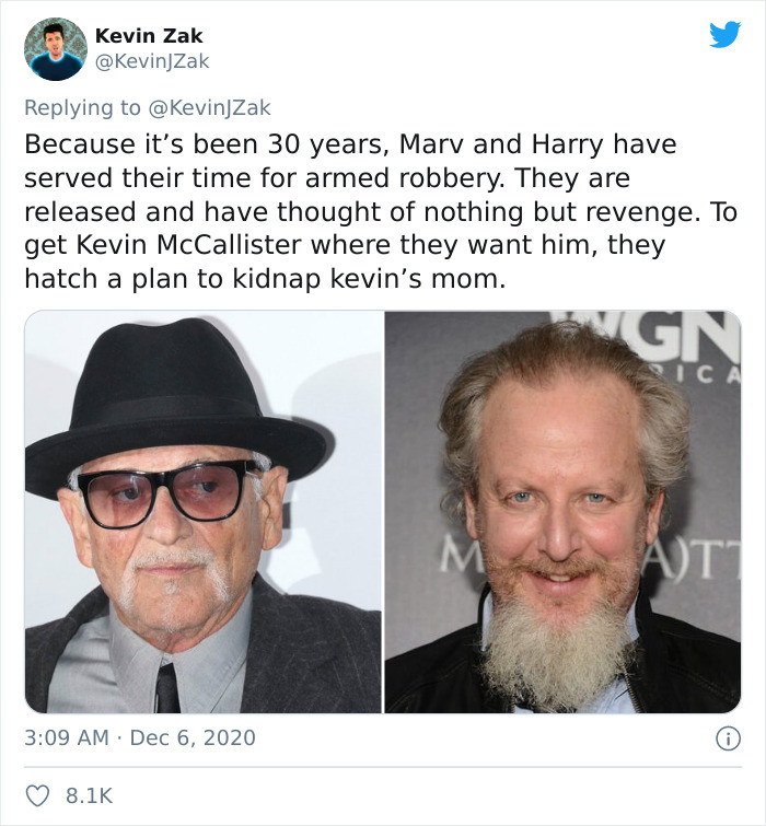 Marv and Harry have now served their time and are out for revenge on Kevin.