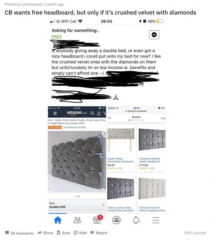 Anyone giving away a really nice bed?