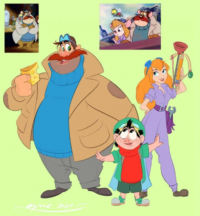 13. Monty And Zipper, Gadget, From Chip & Dale Rescue Rangers