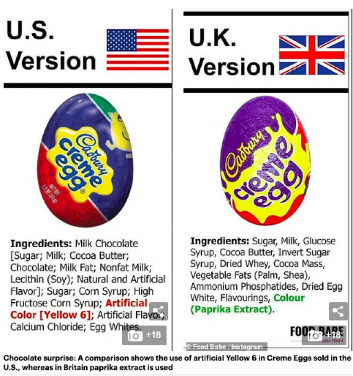 Cadbury Creme Eggs... Now I know why I ordered Flake from across the pond...Yup.