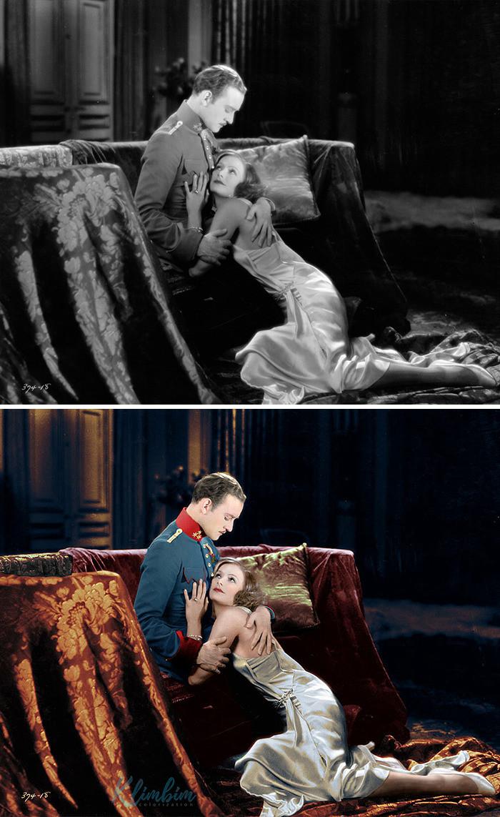 #9 Greta Garbo & Robert Taylor