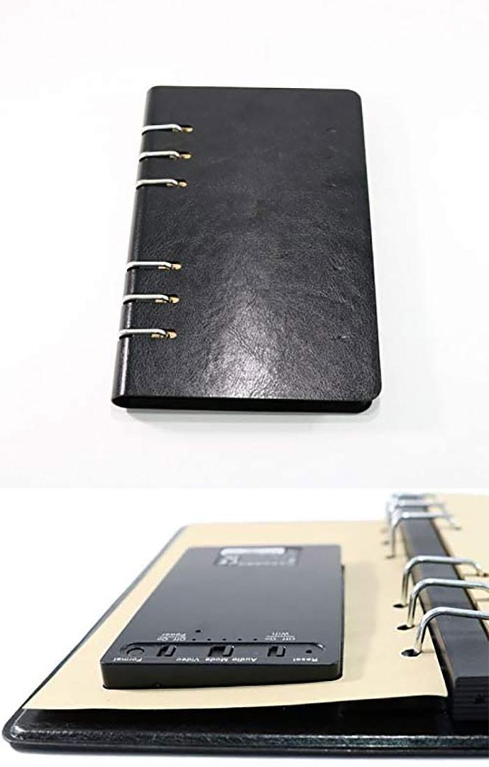 15.  Spy cam notebook