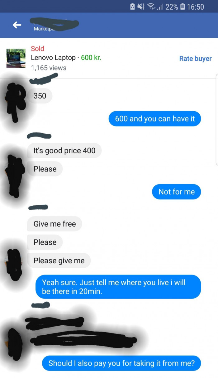 Selling stuff on Facebook in a nutshell
