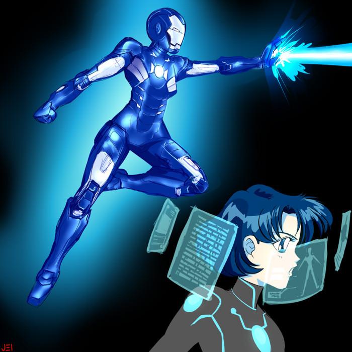 5. Sailor Mercury as Iron Man