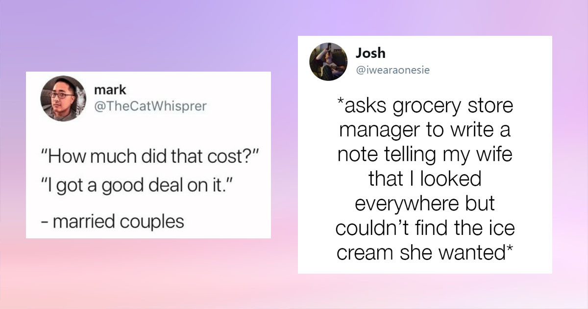 The Most Relatable Tweets About Married Life