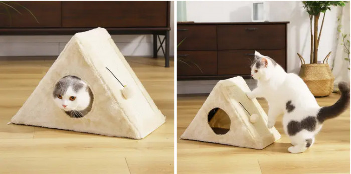 5. Multifunctional Cat House & Scratcher Toy
