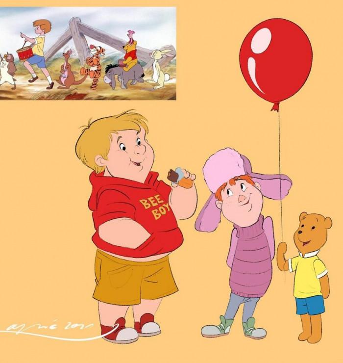 21. Winnie The Pooh, Piglet & Christopher Robin