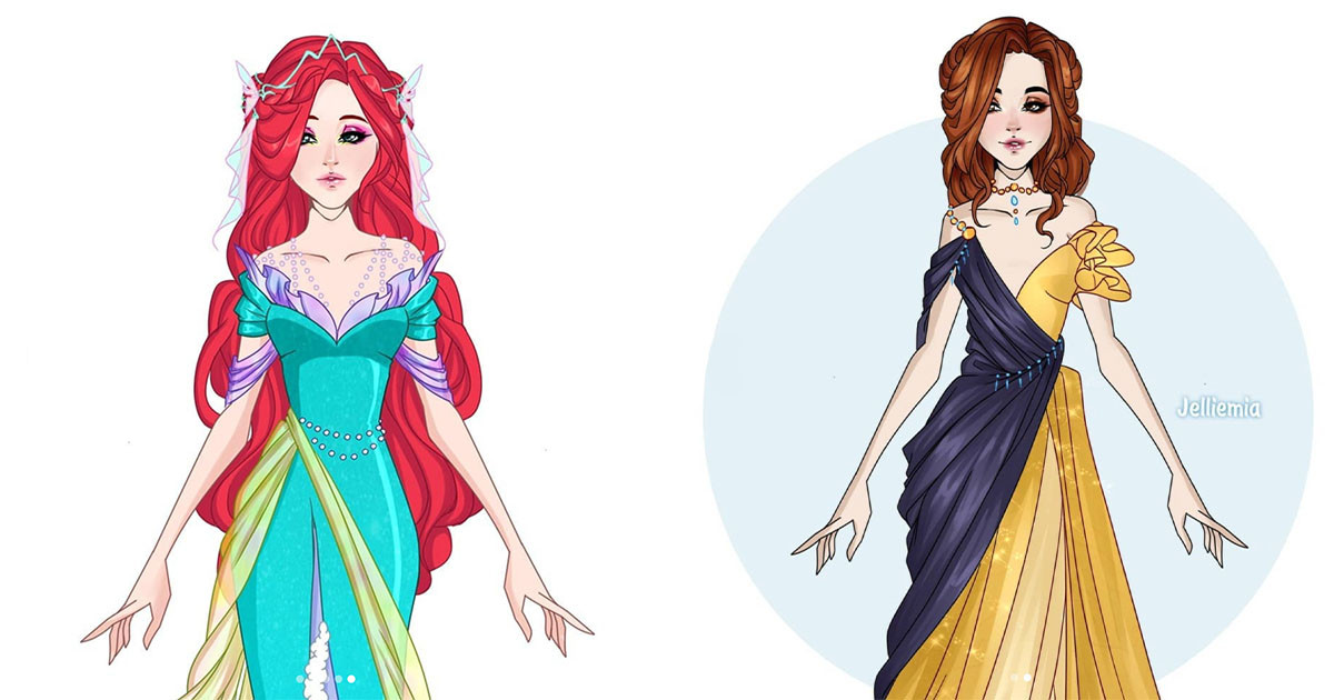 Ukrainian Artist Illustrates Series For Disney Princesses And We Are Gushing