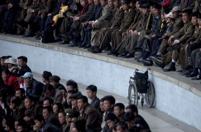 In 6 trips to North Korea, Eric only saw 2 wheelchairs.