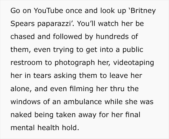 The paparazzi would not leave her alone