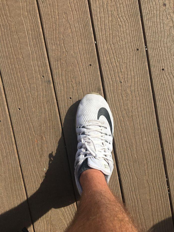 #29 Shoe Lace Or Man Climbing A Mountain?