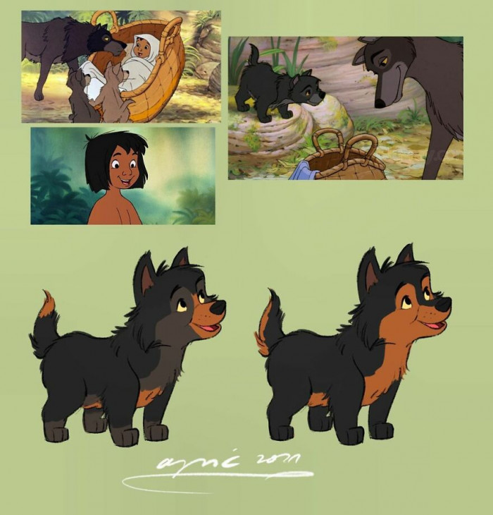 1. Mowgli As A Wolf