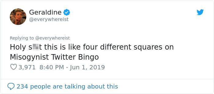 Misogynist Twitter Bingo