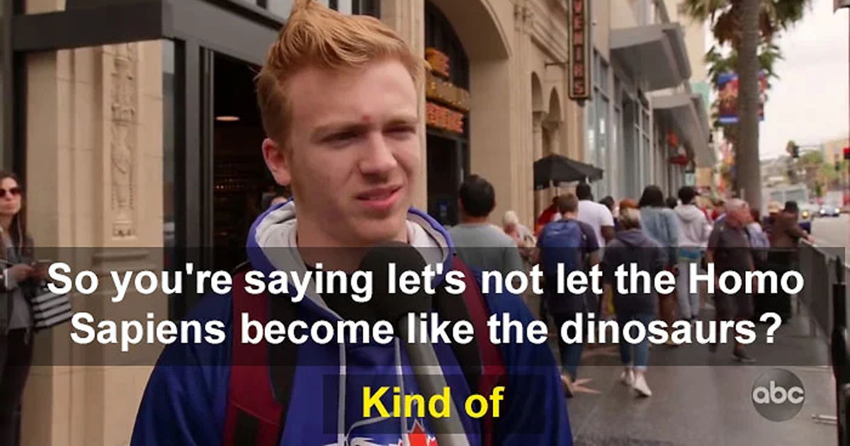 Jimmy Kimmel Asks People if Homo Sapiens Should Be Saved, and Their Answers are Truly Concerning