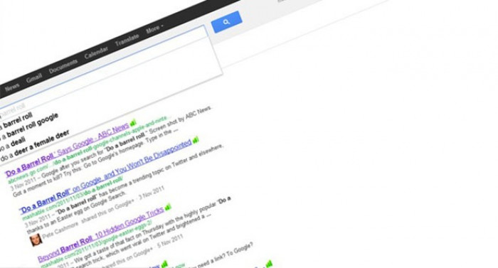"""8. Type """"do a barrel roll"""" and Google will actually do it"""