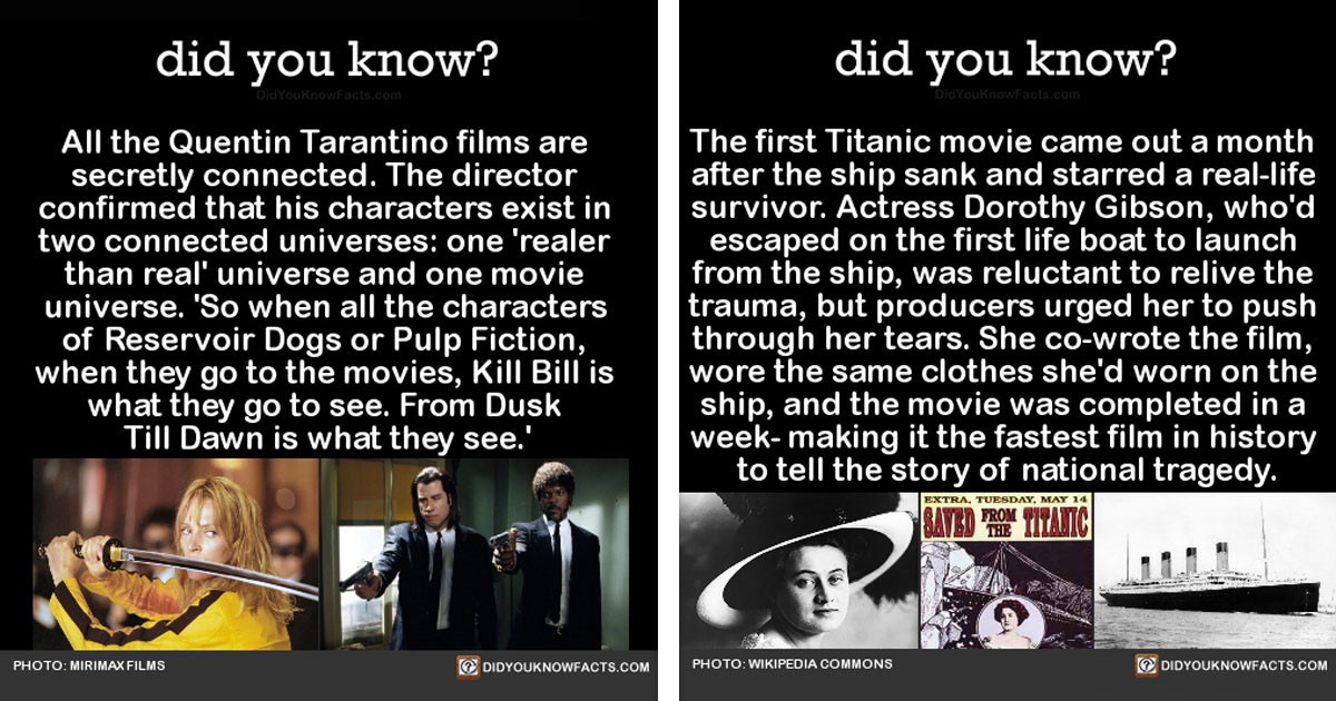 Really Cool Facts About The Current and Past State of Film