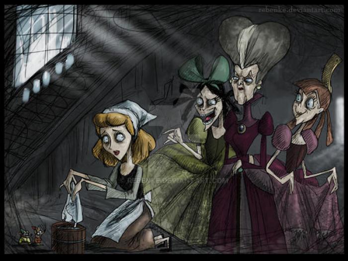 8. Cinderella, Evil Stepmother, & Evil Stepsisters / Cinderella