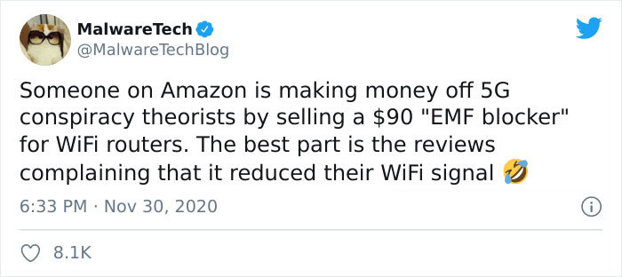 """5G conspiracy theorists are purchasing these """"5G blockers"""" for $89.25 on Amazon"""