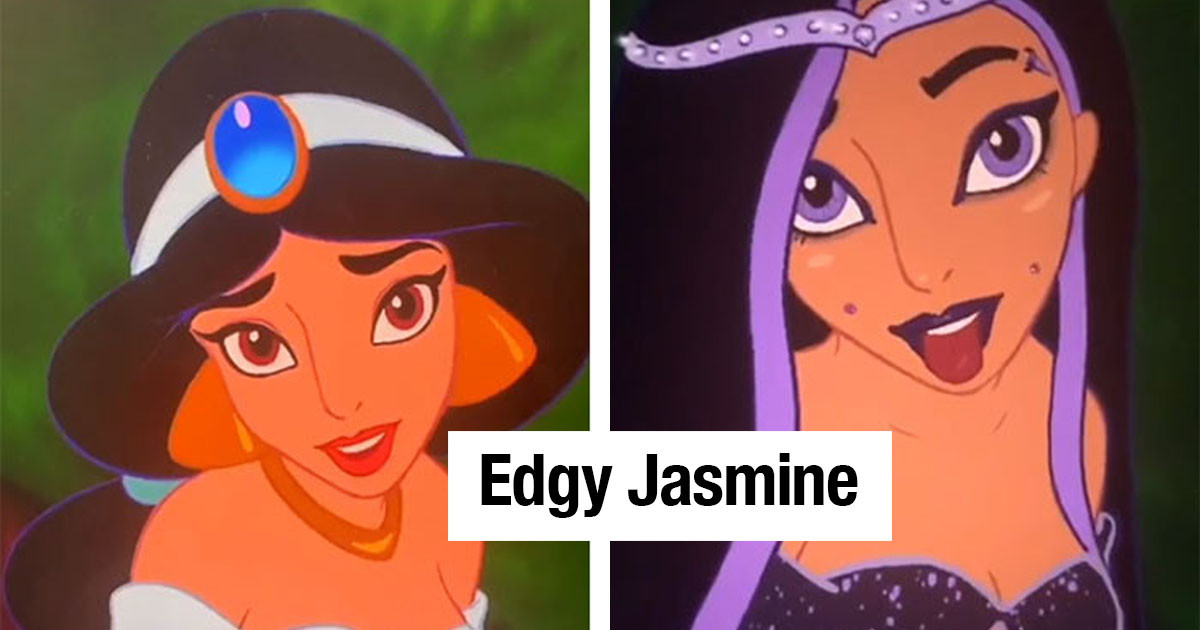 This Artist Redraws Disney Characters As Edgy, Rebellious Teenagers, And Fans Are Loving It