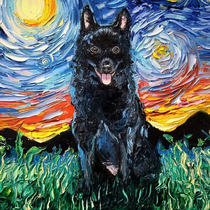 It's a heckin' good day to be a Van Gogh doggo.