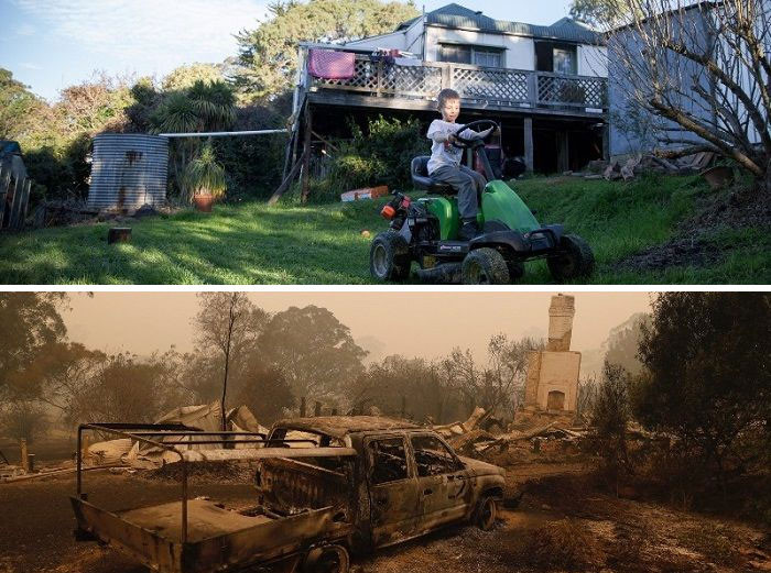 #10 Before and after. This was a home of one Australian family