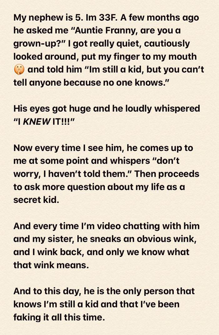 "41. Nephew Figured Out I'm Still A ""Kid"""