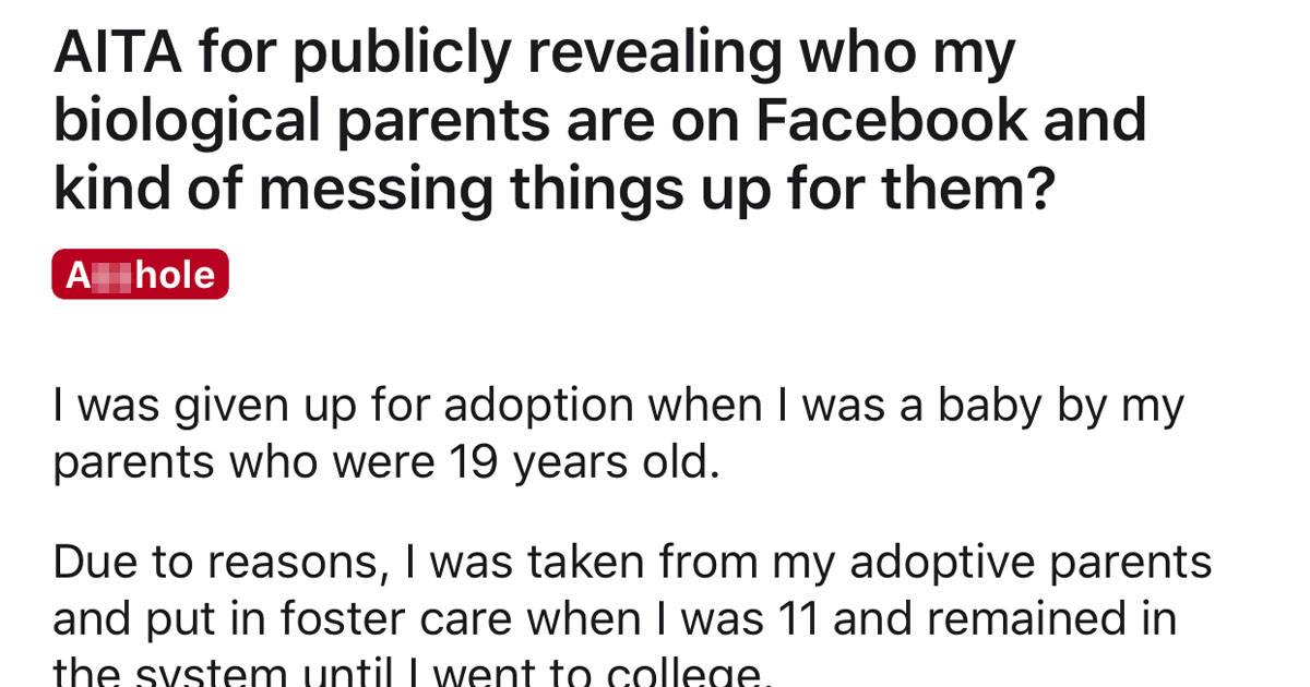 Woman Given Up For Adoption As A Baby Calls Out Biological Parents In A Family Photo On Their Church Facebook Page And Breaks Up Their Marriage