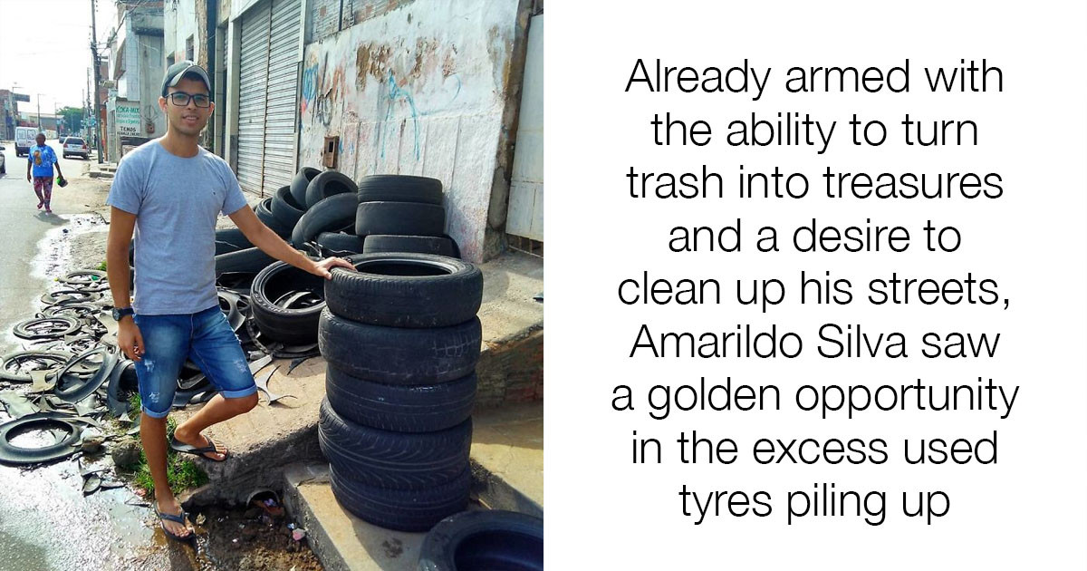 Brazilian Artist Amarildo Silva Recycles Old Tyres Into Beds For All Our Furry Friends