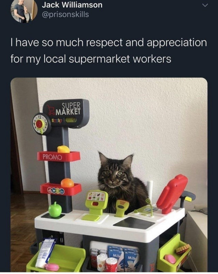 3. Frontline supermarket employee of the month Brave