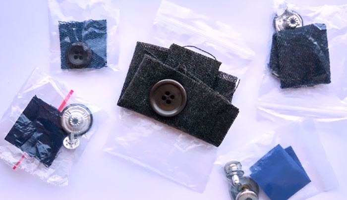 The extra piece of fabric is used to test how the fabric reacts to different detergents