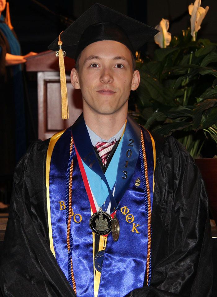 Jon's first college graduation