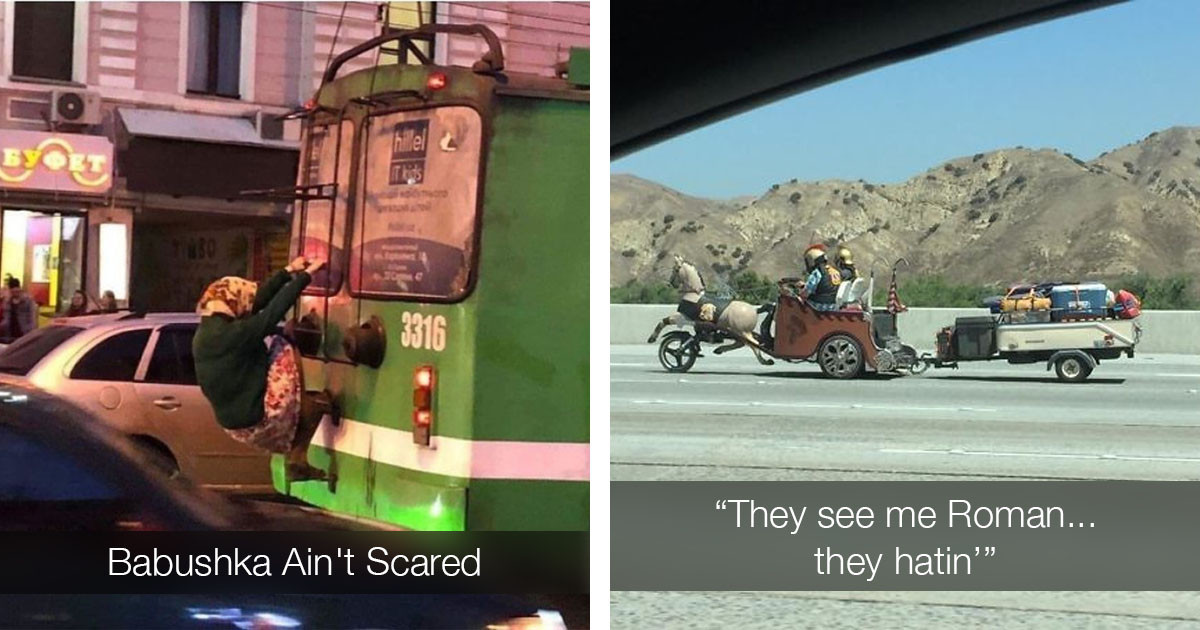 45 Pictures Of The Craziest Things People Have Seen On The Road