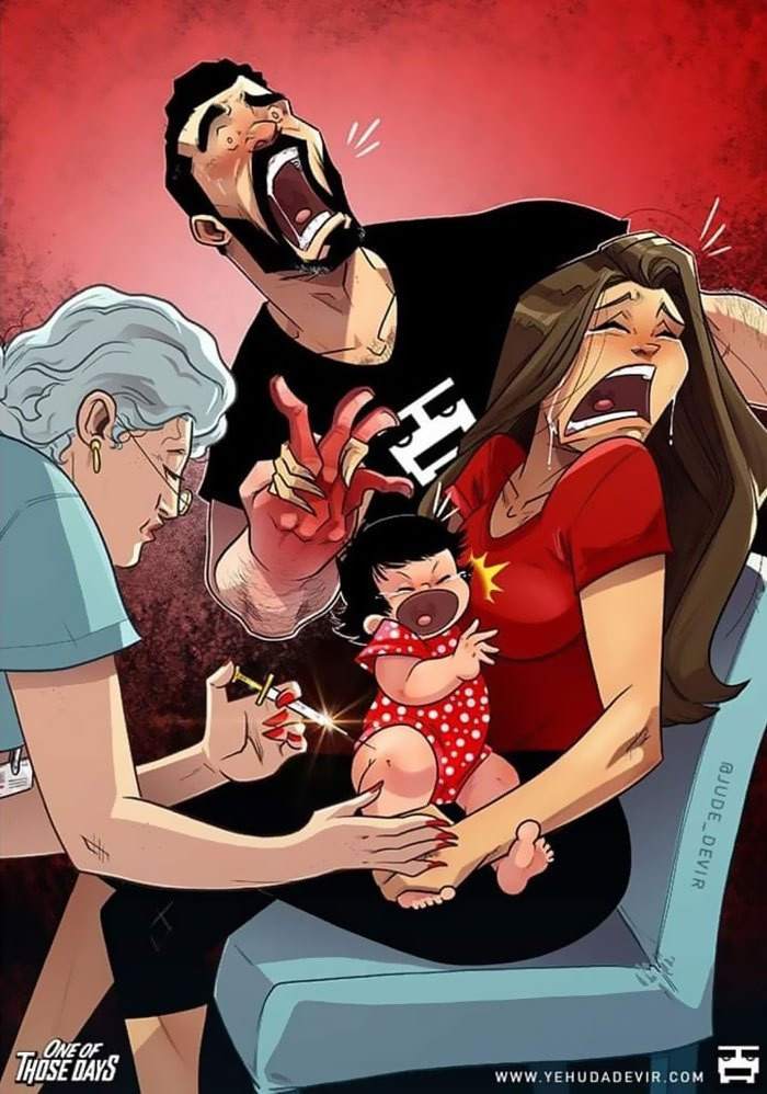9. Giving your baby their first shot