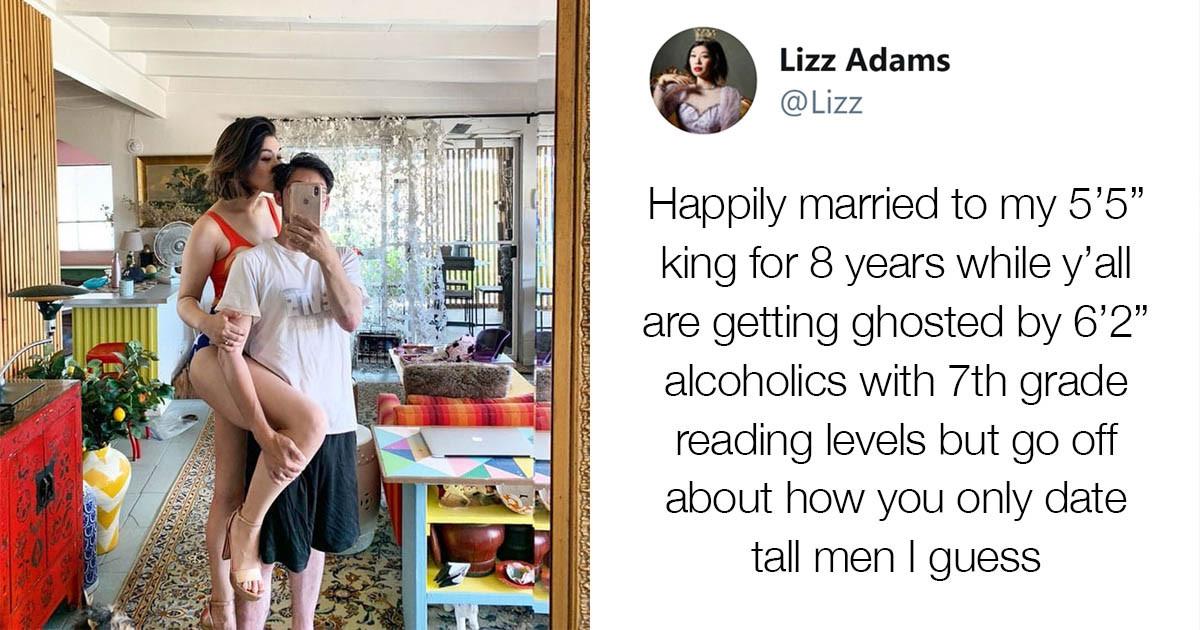 Internet Goes Crazy For Tall Women Showing Off Their Much Shorter Husbands & Boyfriends