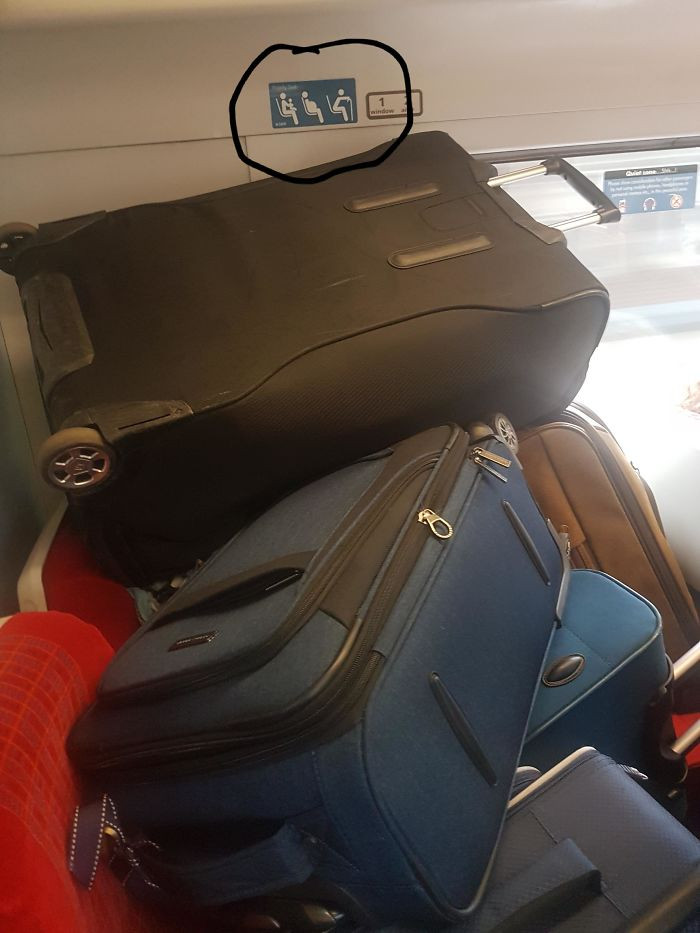 23. Luggage taking priority over passengers with mobility issues.