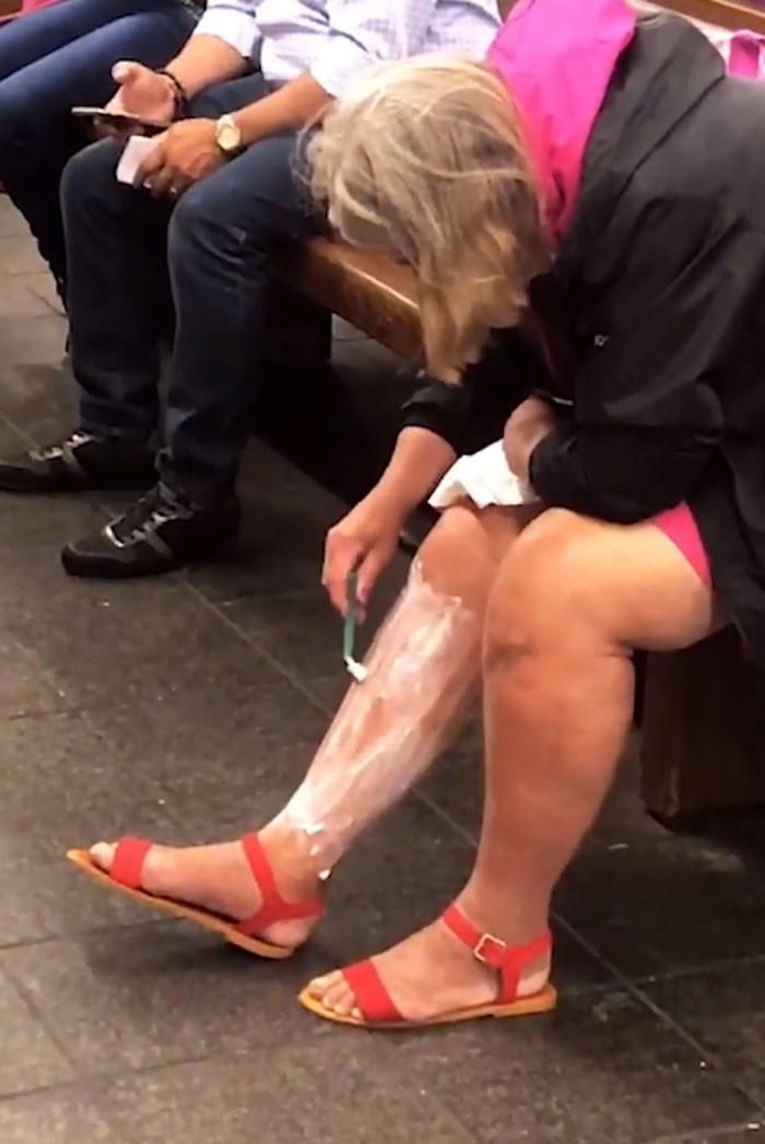 8. Shaving legs while waiting for a train. I can't.